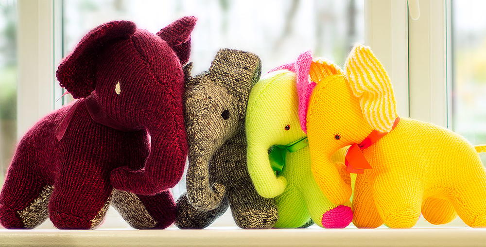 Skanda Vale Hospice Knitted Elephant Allfreeknitting
