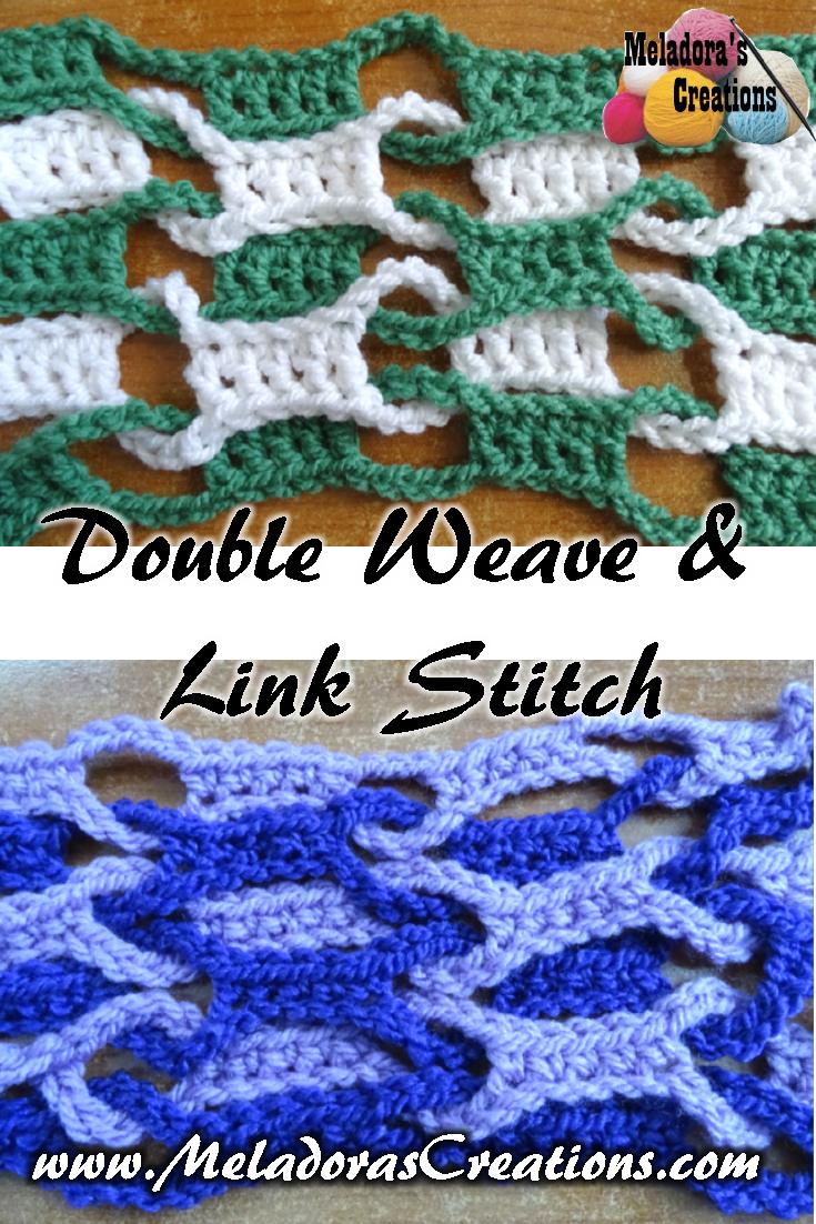 Double Weave and Link Stitch Crochet Tutorial | AllFreeCrochet.com