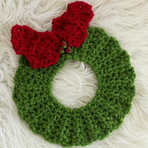 Crochet Christmas Wreath Hot Pad Pattern Allfreecrochet