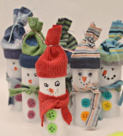 Warm and Cozy Recycled Snowman Craft