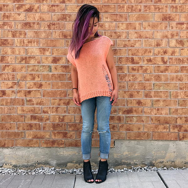 Edgy Oversized Knit Tee
