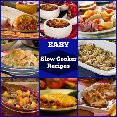 18 easy slow cooker recipes you must try mrfood one of the best aspects of slow cooking food is that the low temperature makes it almost impossible to burn food and they make a cheap meal for the whole forumfinder Gallery