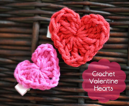 Valentines Day Crochet Hearts