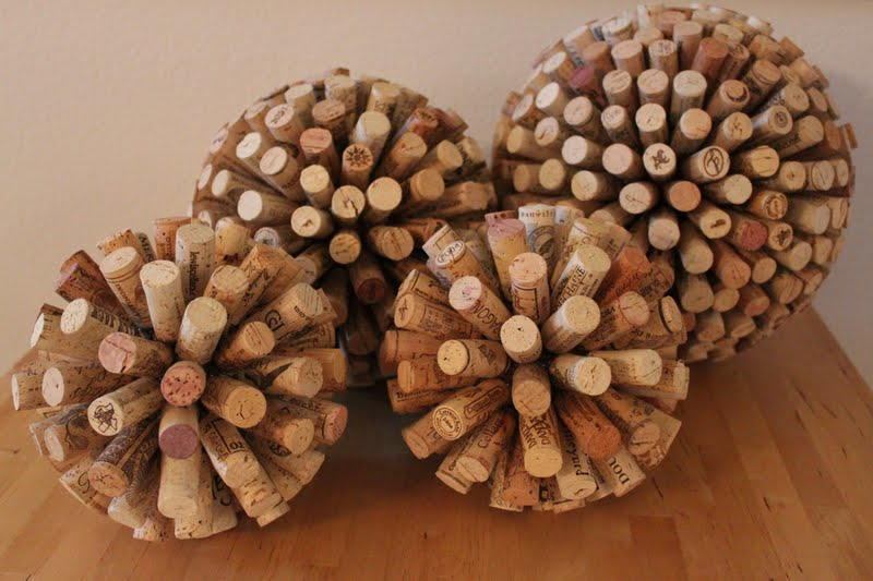 Wine cork balls for Crafts to do with corks