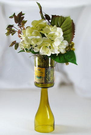 Wine Bottle Topiary