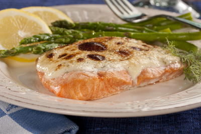 Golden Topped Salmon