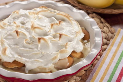 EDR Guilt Free Banana Pudding Pie