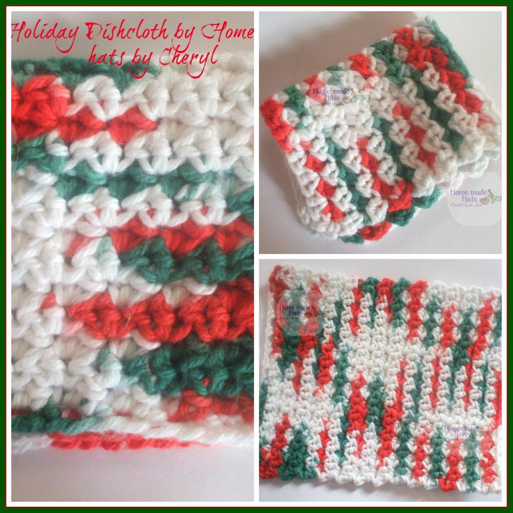 Easy Holiday Crochet Dishcloth Allfreecrochet