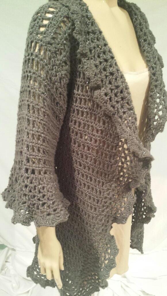 Romantic Ruffled Cardigan | AllFreeCrochet.com
