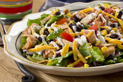 EDR Healthy BBQ Ranch Salad