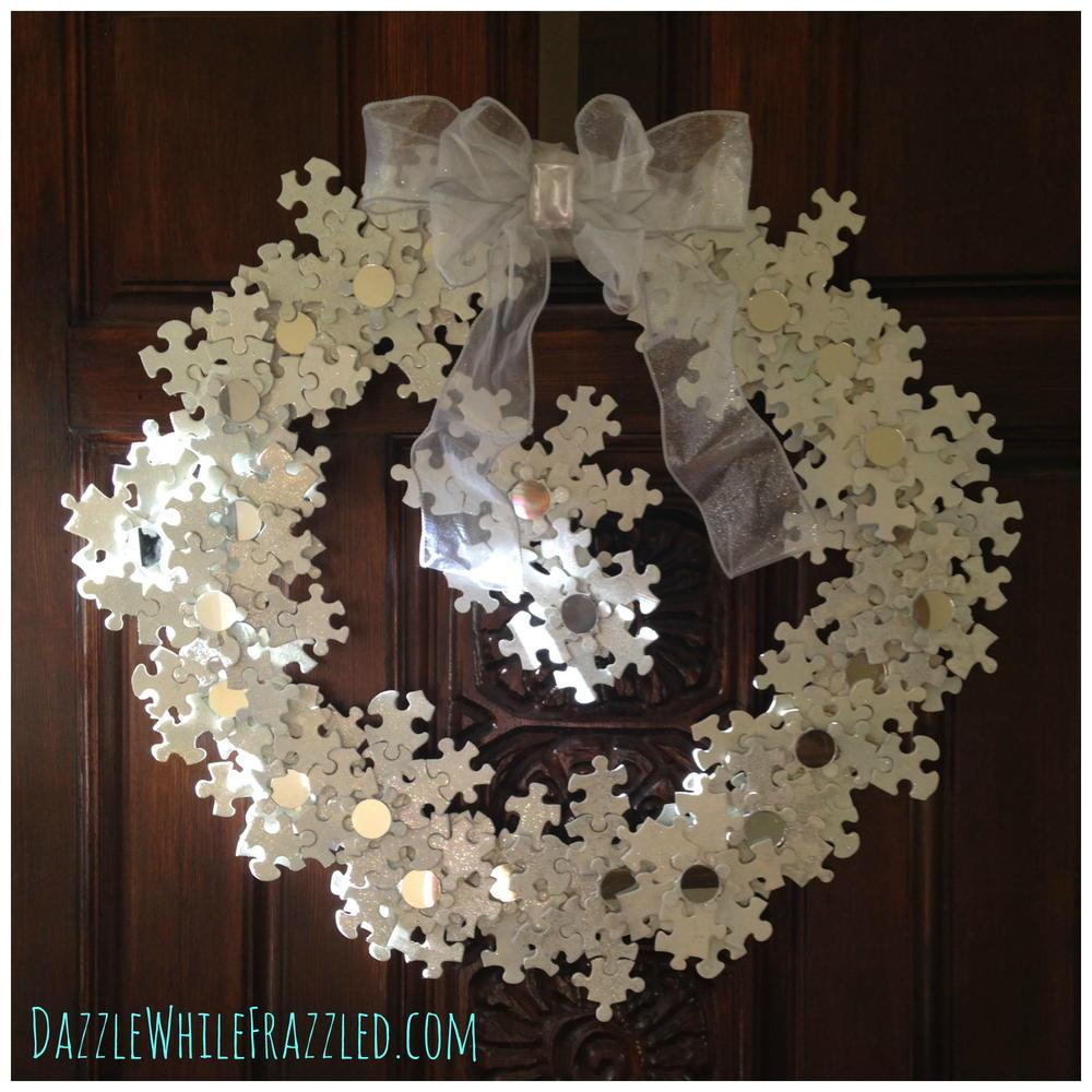 Snowflake Puzzle Diy Wreath Favecrafts Com