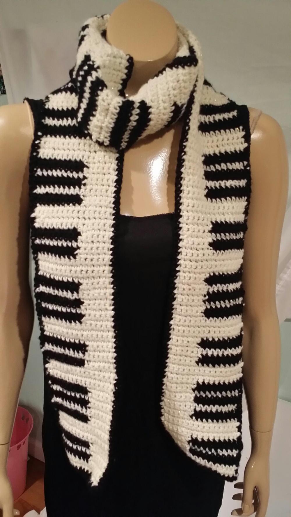 Keyboard Crochet Scarf Pattern | AllFreeCrochet.com