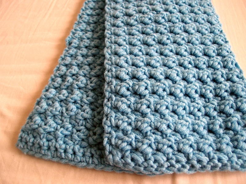 Easy and Textured Scarf | AllFreeCrochet.com