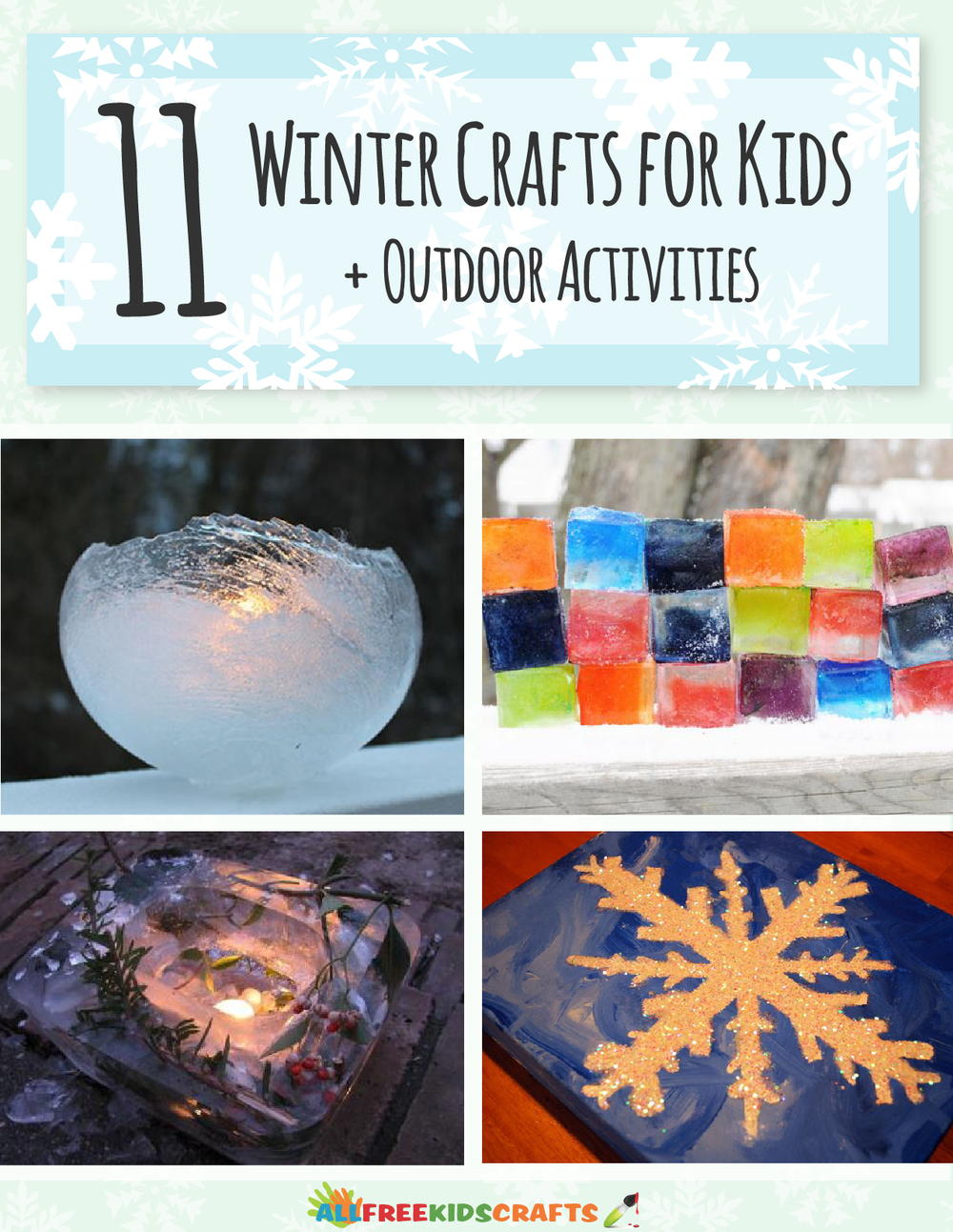 11 Winter Crafts For Kids Outdoor Activities Free Ebook