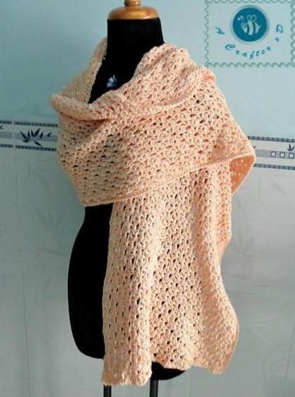 glam crochet wrap favecrafts
