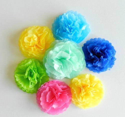 Simple spring tissue paper flowers allfreepapercrafts simple spring tissue paper flowers mightylinksfo