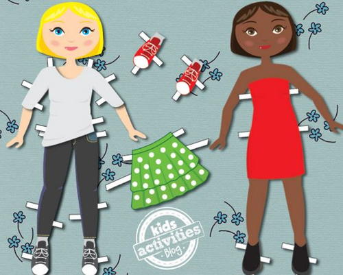City girl paper doll template allfreepapercrafts city girl paper doll template maxwellsz