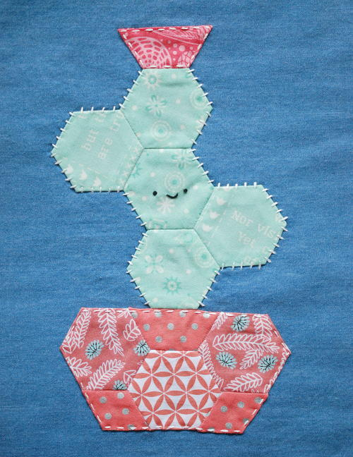 Happy Cactus Applique Pattern