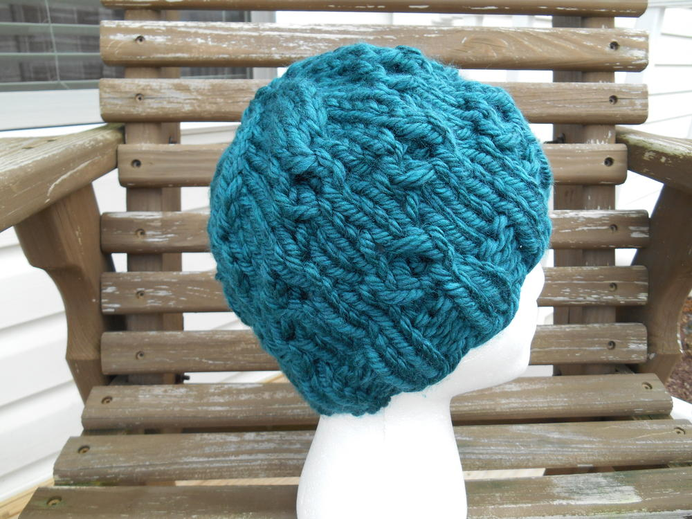 Super Bulky Whirls Of Hope Hat Allfreeknitting