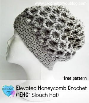 Elevated Honeycomb Crochet Hat