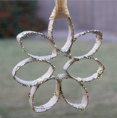 Toilet Paper Roll Snowflake Ornament