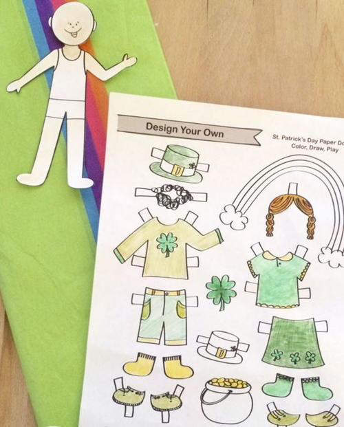 St Patricks Day Paper Doll