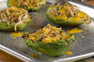 Shredded Chicken Avocados