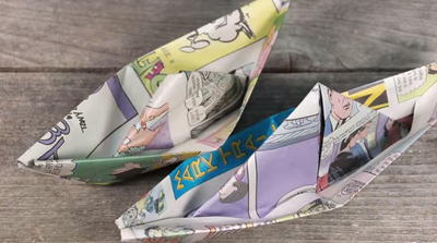 Handmade Newspaper Boats