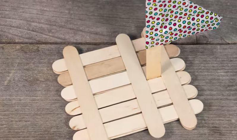 Popsicle Stick Boat Allfreekidscrafts