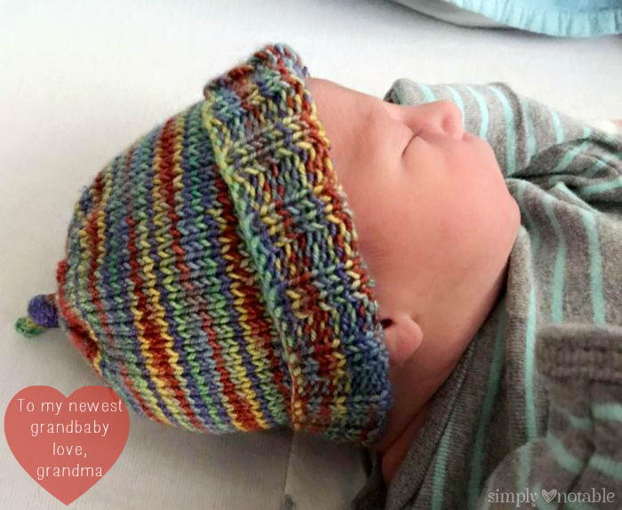 Super Stretchy Striped Baby Hat AllFreeKnitting.com