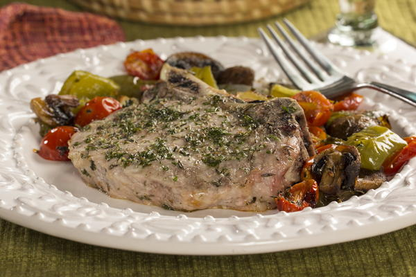 EDR Roasted Pork Chops and Vegetables