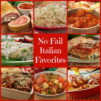 46 no fail italian favorites plus 9 classic sauces mrfood everyday italian recipes are family staples theyre quick hearty and everyone loves em for easy italian recipes you will make again and again forumfinder