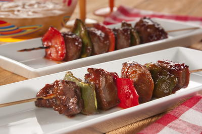 EDR Twin Pepper Steak Kabobs