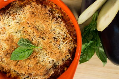 Not-Your-Mamas Eggplant Parmesan