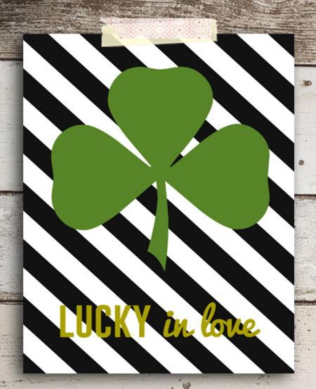 Striped Shamrock Sign Free Printables