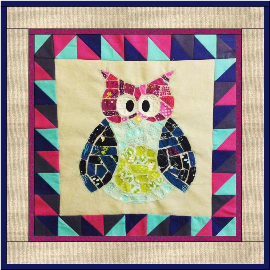 Ticker Tape Owl Quilt Block | FaveQuilts.com : owl pattern quilt - Adamdwight.com