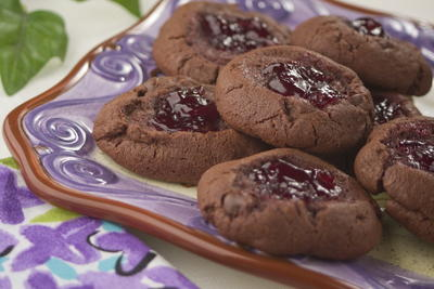 Chocolate Raspberry Thumbprints