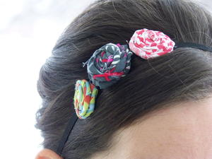 Fabric Flower Headband Pattern
