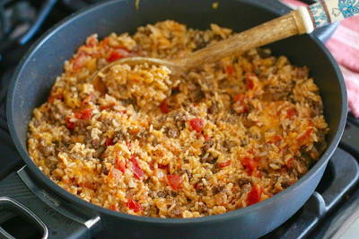 Mexican Taco Rice Skillet