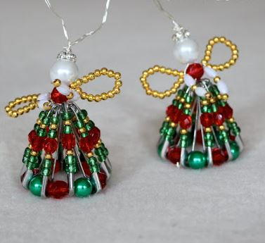 Sweet Safety Pin Angels | AllFreeChristmasCrafts.com
