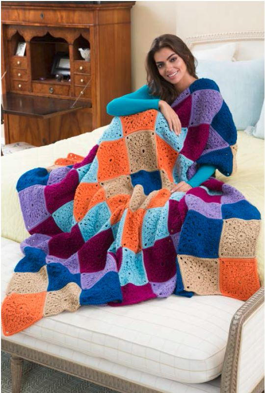 Big Hug Square Crochet Blanket