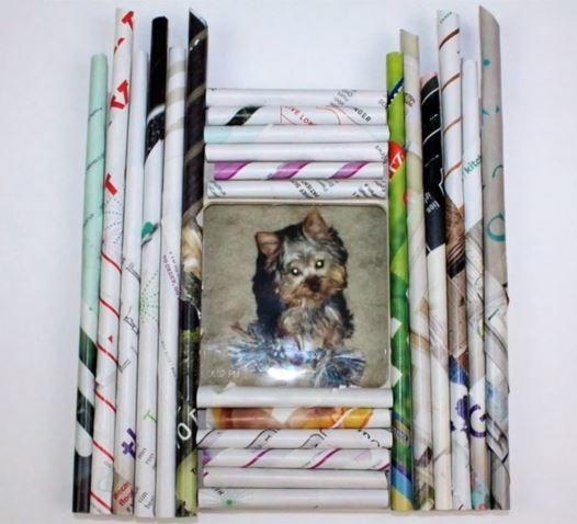 How To Make A Rolled Magazine Frame Allfreepapercrafts Com
