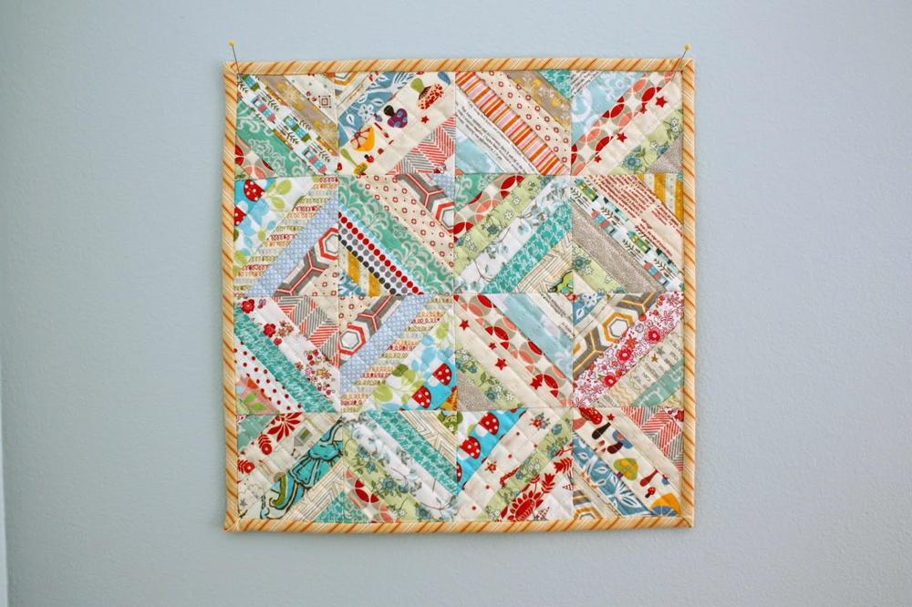 Mini Quilt Block Template Set : Enchanted Cottage Mini Quilt Pattern FaveQuilts.com