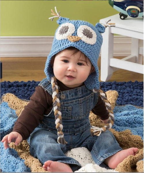 Adorable Owl Crochet Baby Hat | AllFreeCrochet.com
