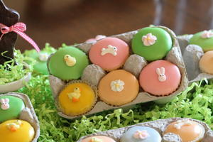 Easter Cupcakes with Pastel Icing