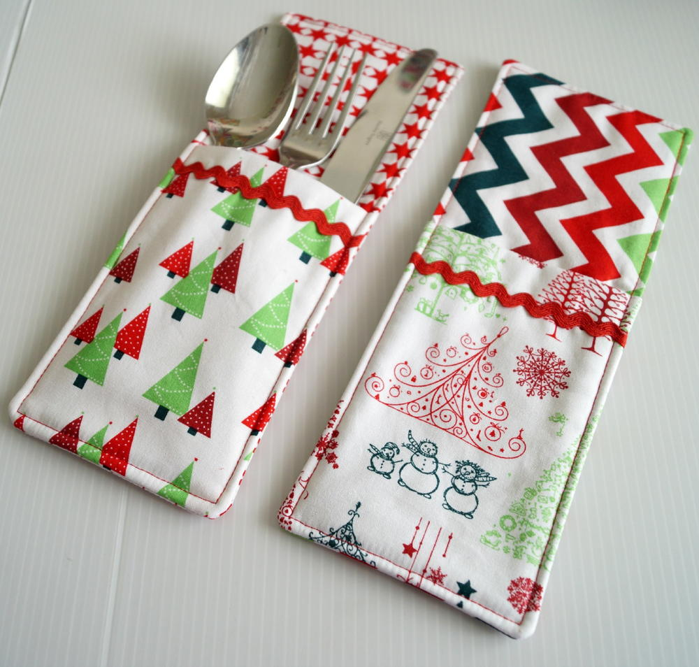Cutlery pockets sewing pattern for Holiday project