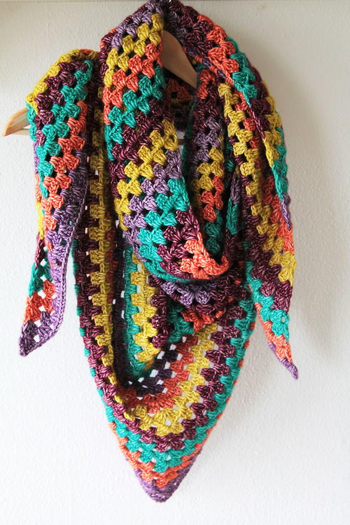 Granny Square Scarf Crochet Pattern Shawl Pattern Crochet Scarf