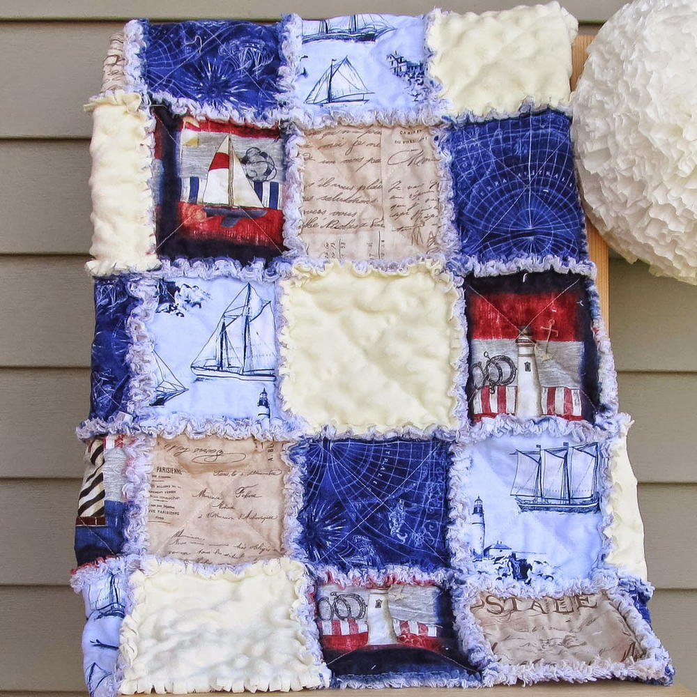 35+ Snuggly Free Rag Quilt Patterns | FaveQuilts.com : rag quilt how to - Adamdwight.com