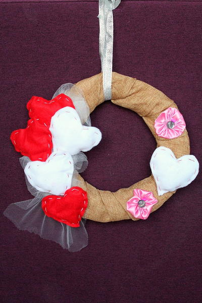 Scrappy Valentine's DIY Wreath