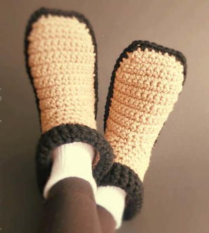 Easy Crocheted Adult Slippers